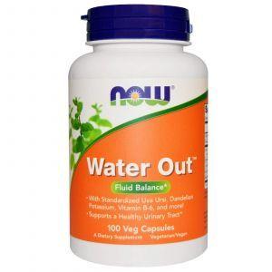 Травяное мочегонное средство, Water Out, Now Foods, 100 к