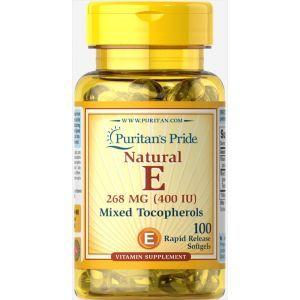 Витамин Е и смесь такаферолов, Vitamin E-400 Mixed Tocopherols, Puritan's Pride, 400 МЕ,100 капсул
