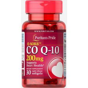 Коэнзим Q-10, Q-SORB Co Q-10 200 mg, Puritan's Pride, 200 мг, 30 капсул