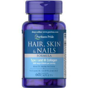 Формула для волос, кожи, ногтей, Hair Skin Nails Formula, Puritan's Pride, 60 капсул