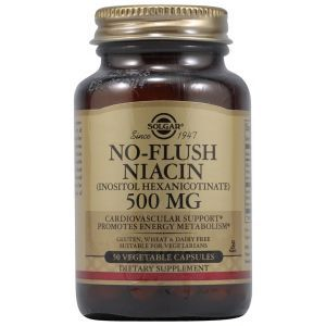 Ниацин, No-Flush Niacin, Solgar, 500 мг, 50 капсул (Default)