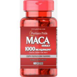 Мака для мужчин, Maca 1000 mg Exotic Herb for Men, Puritan's Pride, 1000 мг, 60 капсул