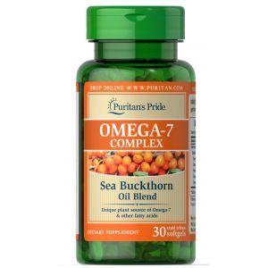 Омега-7 из облепихового масла, Omega-7 Complex Sea Buckthorn Oil Blend, Puritan's Pride, 30 капсул