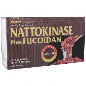 Наттокиназа плюс фукоидан (Nattokinase Plus Fucoidan), Umeken, 60 пакетов