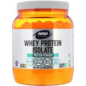 Изолят сывороточного протеина, Whey Protein Isolate, Now Foods, Sports, порошок, 544г (Default)