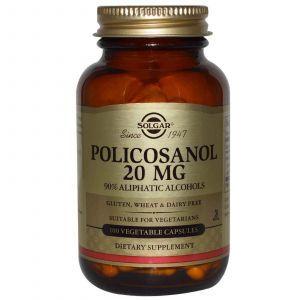 Поликозанол, Solgar, 20 мг, 100 кап