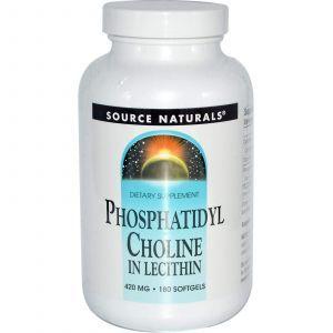Фосфатидилхолин, Source Naturals, 420 мг, 180 кап