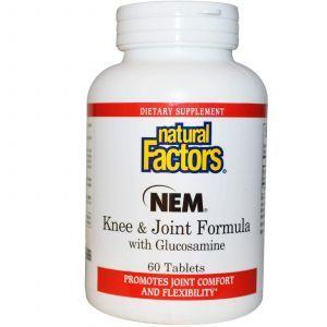 Яичная скорлупа с глюкозамином, Natural Factors, 60 таб