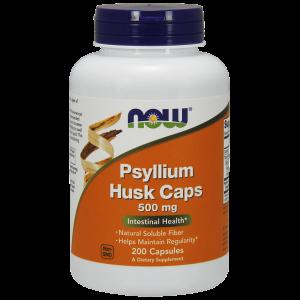 Подорожник (Psyllium Husk), Now Foods, 500 мг, 200 капсул