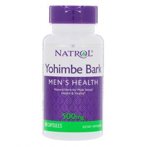 Йохимбе, Yohimbe Bark, Natrol, 500 мг, 90 капсул