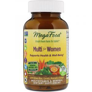 Витамины для женщин, Multi for Women, MegaFood, 120 таблеток (Default)