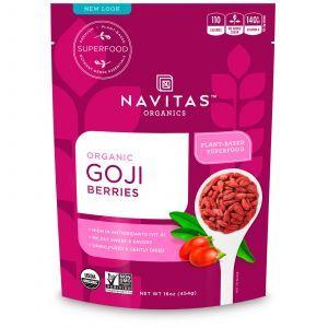 Ягоды годжи, Goji Berries, Navitas Naturals, высушенные, органик, 454 г. (Default)