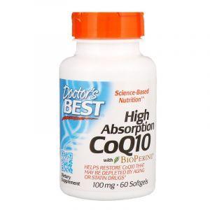 Коэнзим Q10 с биоперином, CoQ10 with BioPerine, Doctor's Best, 100 мг, 60 капсул (Default)