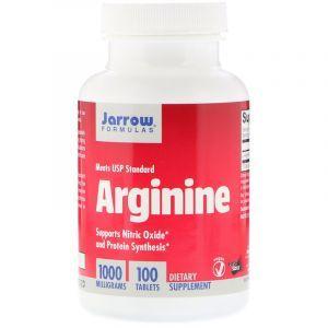 Аргинин, Arginine, Jarrow Formulas, 1000 мг, 100 таблеток (Default)
