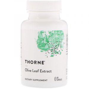 Экстракт листьев оливы, Olive Leaf, Thorne Research, 60 кап. (Default)