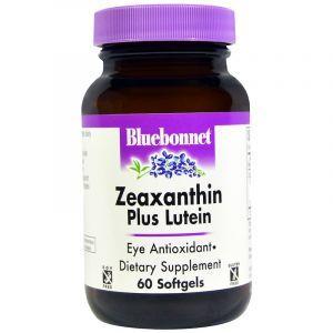 Здоровье глаз (зеаксантин и лютеин), Zeaxanthin Plus Lutein, Bluebonnet Nutrition, 60 капсул (Default)