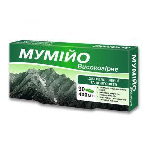 Мумие высокогорное, КРАСОТА И ЗДОРОВЬЕ, 400 мг, 30 капсул