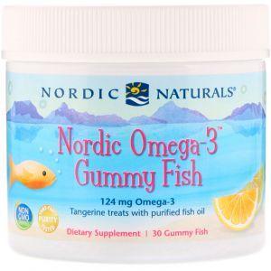 Рыбий жир для детей (мандарин), Omega-3 Gummy Fish, Nordic Naturals, 30 желе (Default)