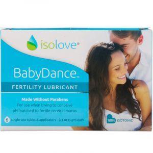 Смазка для фертильности, BabyDance Fertility Lubricant, Fairhaven Health, 6 шт. по 3 г