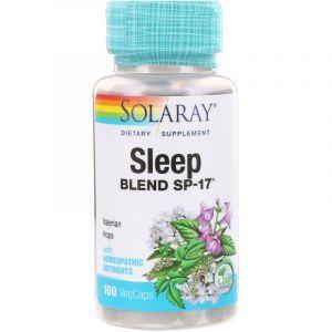 Спокойный сон, Sleep Blend SP-17, Solaray, 100 капсул (Default)