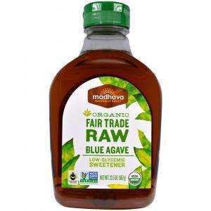 Нектар голубой агавы не обработанный, Madhava Natural Sweeteners, 667 г.