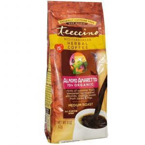 Средиземноморский травяной кофе миндаль-амаретто, Herbal Coffee, Teeccino, 312 г