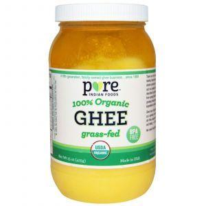 Масло гхи из молока буйволицы, Ghee, Pure Indian Foods, 425 г