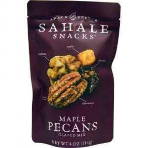 Орехи пекан в глазури с кленовым сиропом, Pecans Glazed Mix, Sahale Snacks, 113 г