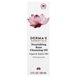 Питающее и очищающее розовое масло, Nourishing Rose Cleansing Oil, Derma E, 60 мл