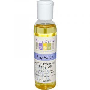 Аромо масло для тела и массажа, Euphoric, Aura Cacia, успокаивающее, иланг-иланг, 118 мл
