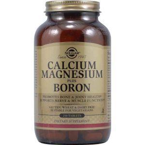 Кальций, магний + борон, Solgar, 250 таблеток