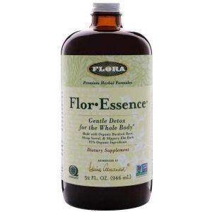 Мягкая детоксикация, травяная формула, Flor Essence, Flora, 946 мл