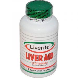 Поддержка печени, Liver Aid, Liverite, 120 таблеток