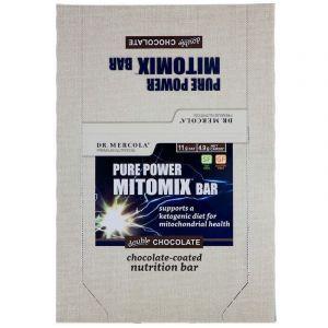 Батончики питательные, Pure Power Mitomix Bar, Dr. Mercola, двойной шоколад, 12 шт. по 40 г
