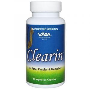 Средство для лечения акне, Clearin, Vaxa International, 60 растительных капсул
