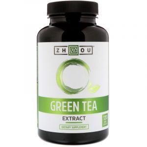 Зеленый чай, экстракт, Green Tea, Zhou Nutrition, 120 вегетарианских капсул