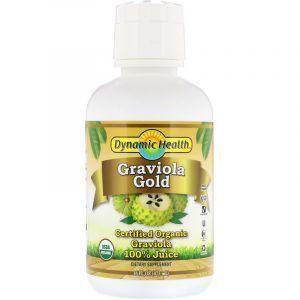 Гравиола, 100% сок, Graviola Gold, Dynamic Health Laboratories, органик, 473 мл