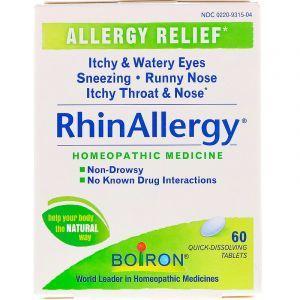 Средство от аллергии, RhinAllergy, Boiron, 60 быстрорастворимых таблеток