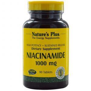 Ниацинамид, Niacinamide, Nature's Plus, 1000 мг, 90 капсул (Default)