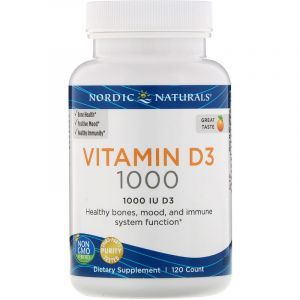 Витамин Д3 (апельсин), Vitamin D3, Nordic Naturals, 1000 МЕ, 120 капсул (Default)
