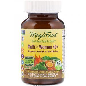 Витамины для женщин 40+, Multi for Women, Mega Food, 60 таблеток (Default)