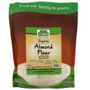 Миндальная мука, Almond Flour, Now Foods, органик, 454 г
