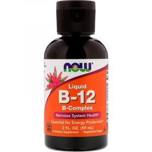 Витамин В12 комплекс жидкий, Liquid B-12, Now Foods, 60 мл (Default)