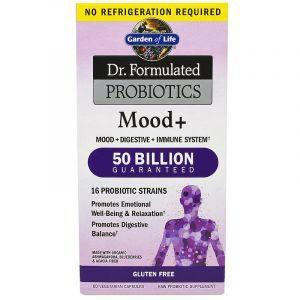 Пробиотическая формула: настроение+ (Probiotics), Garden of Life, 60 капсул (Default)
