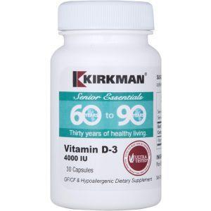 Витамин D-3 от 60 до 90, Kirkman Labs, 30 капсул