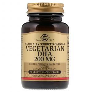 Омега 3 для вегетарианцев, Natural Omega-3, Solgar, 200 мг, 50 капсул (Default)