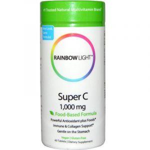 Витамин С, Super C, Rainbow Light, 1000 мг, 60 таблеток (Default)