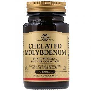 Молибден (Chelated Molybdenum), Solgar, 100 таблеток (Default)