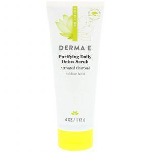 Очищающий скраб-детокс, Detox Scrub, Derma E, 113 г