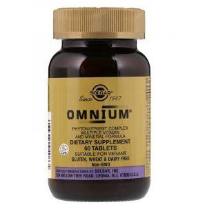 Мультивитамины и минералы oмниум, Multiple Vitamin and Mineral, Omnium, Solgar, 60 таблеток (Default)